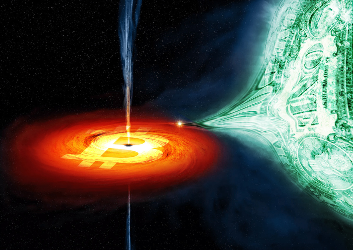 Bitcoin Blackhole Effect